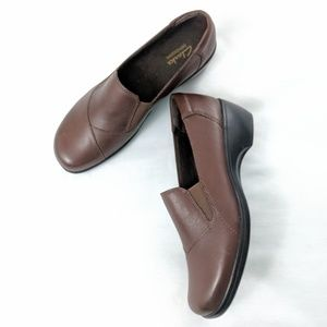 Clarks Bendables May Ivy Brown Leather Loafers